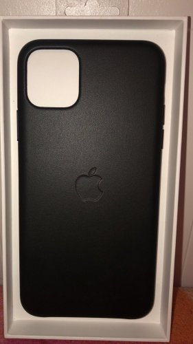 Apple Étui pour téléphone portable noir cuir
