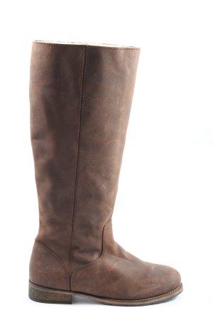 Apple of eden Jackboots brown casual look