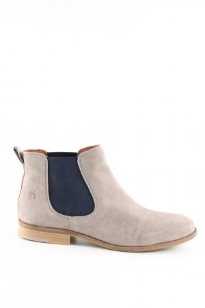 Apple of eden Chelsea Boots natural white-blue casual look