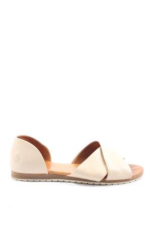 Apple of eden Wygodne sandały kremowy W stylu casual