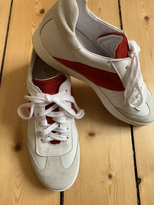 Apple of eden Sneakers met veters wit-rood Leer