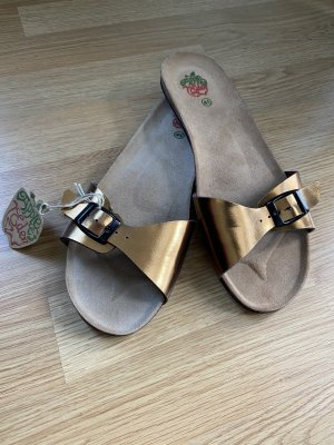 Apple of eden Beach Sandals light brown-gold-colored