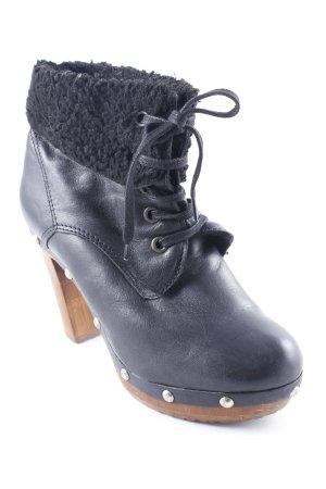 Apple of eden Platform Booties black-brown casual look