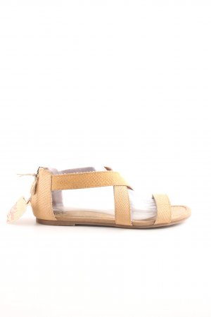 Apple of eden Strapped Sandals nude casual look