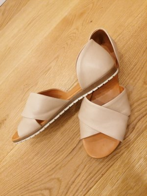Apple of eden Strapped Sandals white-nude leather