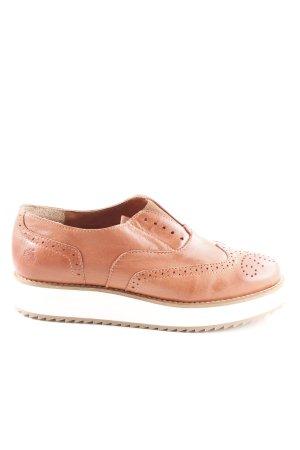 Apple of eden Slip-on Shoes light orange-white casual look