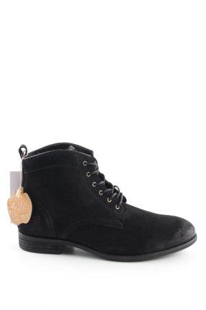 Apple of eden Bottines à lacets noir style décontracté