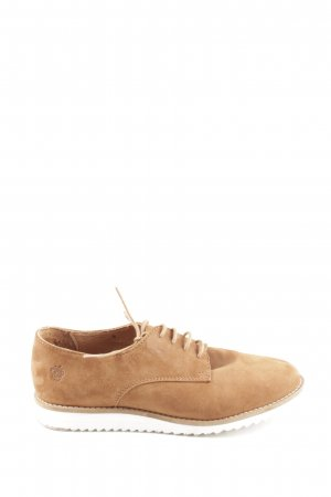 Apple of eden Lace Shoes light brown-white casual look