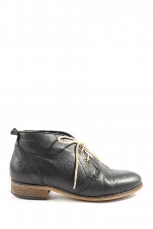 Apple of eden Veterschoenen zwart casual uitstraling
