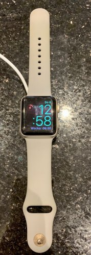 Apple Montre numérique doré-gris clair