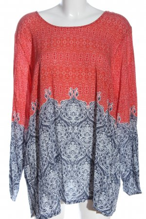 Aprico Hemd-Bluse Allover-Druck Casual-Look
