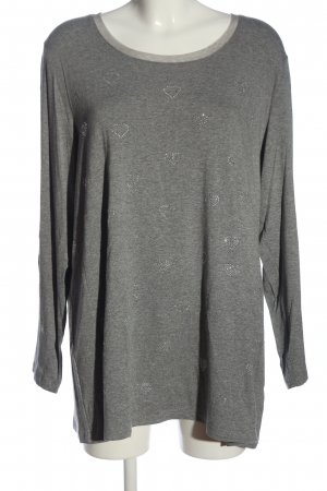 Aprico Koszulka z długim rękawem jasnoszary Melanżowy W stylu casual