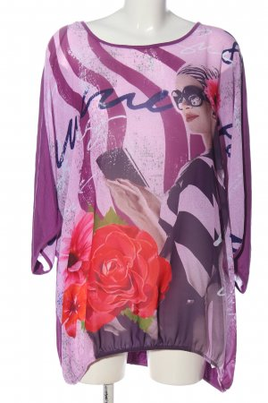 Aprico Longesleeve lila prints met een thema casual uitstraling
