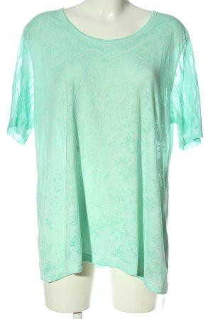 Aprico Shirt met print turkoois casual uitstraling