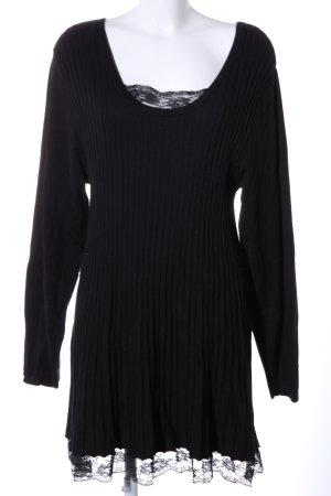 Aprico Stretch jurk zwart casual uitstraling