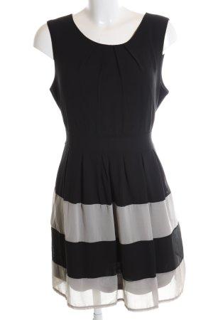 Apricot A Line Dress black-light grey striped pattern elegant