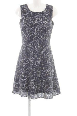 Apricot A-lijn jurk blauw-wit volledige print zakelijke stijl