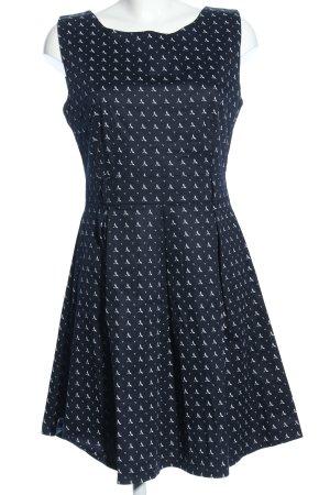 Apricot A-lijn jurk blauw-wit volledige print elegant