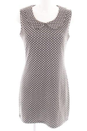 Apricot A-lijn jurk zwart-wolwit Webpatroon zakelijke stijl