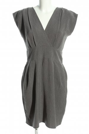 Apricot Sheath Dress light grey weave pattern business style