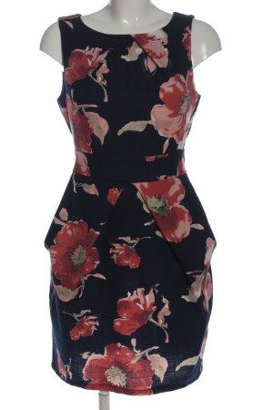 Apricot Sheath Dress allover print casual look