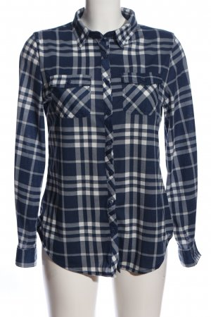 Apricot Flannel Shirt blue-white check pattern casual look