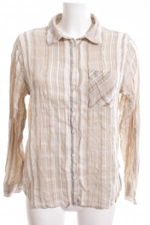 Apricot Hemd-Bluse wollweiß-weiß Allover-Druck Business-Look