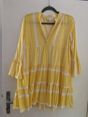 Apricot Tunic Dress yellow-white