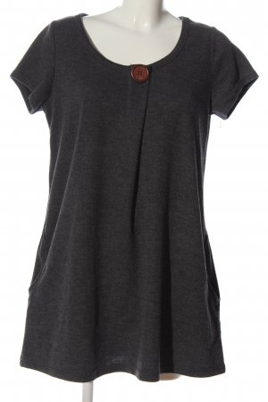Apricot Shortsleeve Dress light grey flecked casual look