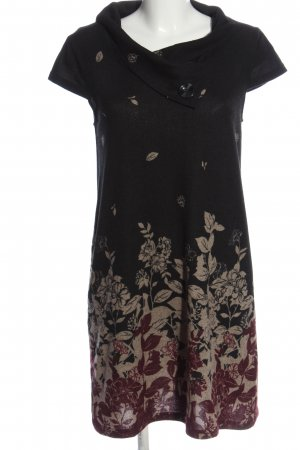 Apricot Shortsleeve Dress flower pattern casual look