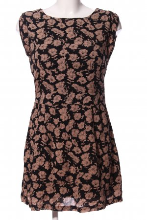 Apricot Shortsleeve Dress black-brown allover print casual look
