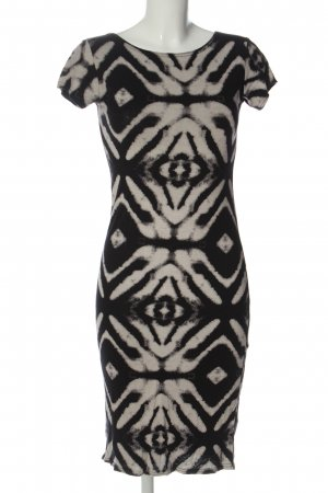 Apricot Shortsleeve Dress black-natural white abstract pattern casual look