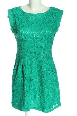 Apricot Shortsleeve Dress turquoise elegant