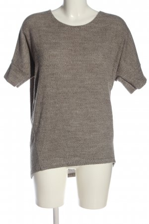 Apricot Short Sleeve Sweater cream-brown flecked casual look