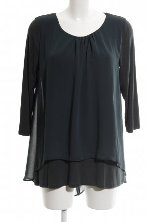 Apricot Long Sleeve Blouse forest green classic style