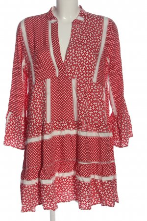 Apricot Longsleeve Dress red-white allover print casual look