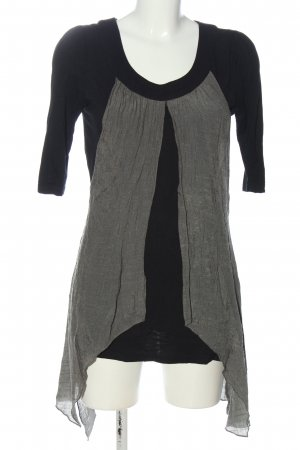 Apricot Long-Bluse schwarz-hellgrau Casual-Look