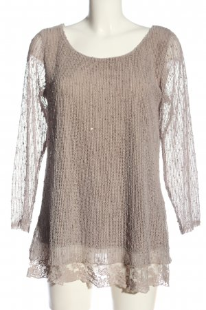 Apricot Long Sweater natural white cable stitch casual look