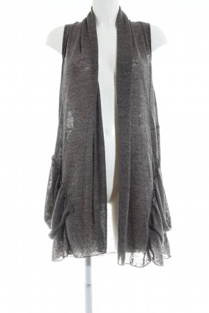 Apricot Long Knitted Vest light grey flecked casual look