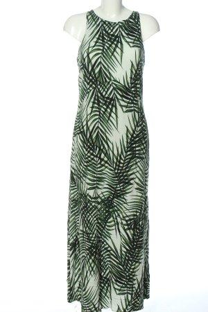 Apricot Sukienka maxi biały-zielony Nadruk z motywem W stylu casual