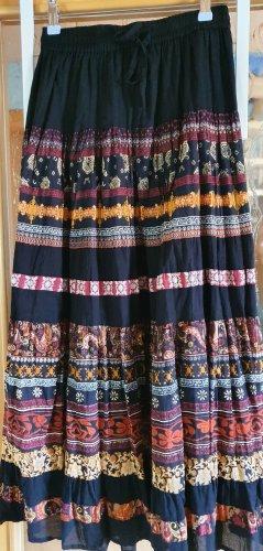 Apricot Maxi Skirt multicolored cotton