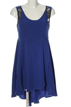 Apricot Robe bas asymétrique bleu élégant