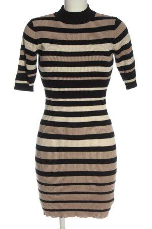 Apricot Midi Dress striped pattern casual look