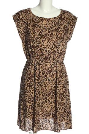 Apricot Robe courte motif léopard style décontracté