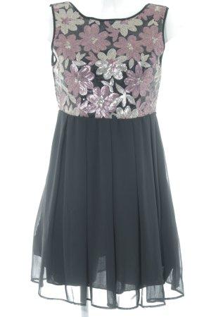 Apricot Mini Dress flower pattern elegant