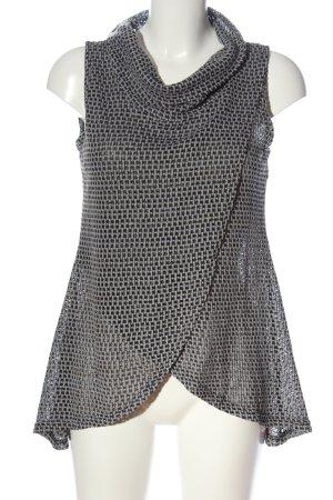 Apricot Blusa senza maniche grigio chiaro-nero stile casual
