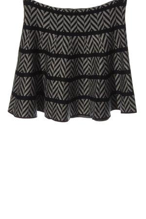 Apricot Minigonna nero-grigio chiaro motivo a righe stile casual