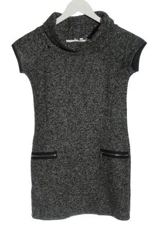 Apricot Swetrowa sukienka czarny-biały Melanżowy W stylu casual