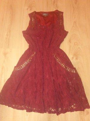 Apricot Robe de soirée rouge foncé