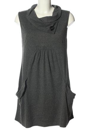 Apricot Vestido estilo camisa gris claro moteado look casual